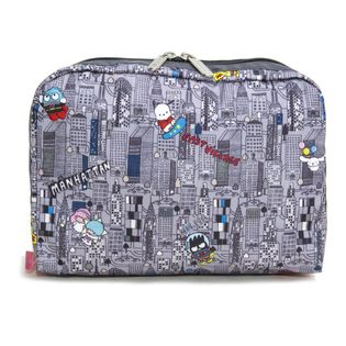[LeSportsac]ポーチ XL RECTANGULAR COSMETIC グレー系