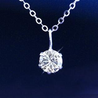 【ホワイトゴールド】天然ダイヤモンド0.3ctK18ペンダント【鑑別書付】GE