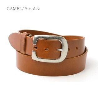 【キャメル】栃木レザー ベルト カジュアル 牛革 本革ベルト サイズ調整可能 40mm