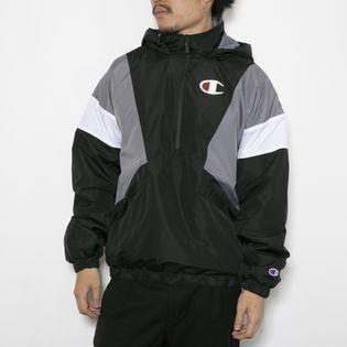 Mサイズ[CHAMPION]ジャケット STADIUM ANORAK ブラック×グレー×ホワイト