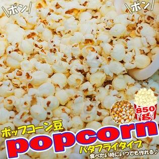 【850g(約42人分)】ポップコーン豆 (バタフライタイプ・チャック付き)