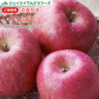【予約受付】2/1~順次出荷【10kg(28-56玉入り)】青森産サンふじりんご※傷シミあり