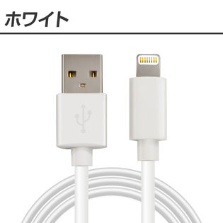 iPhone用充電ケーブル Apple認証品 【長さ:1.5m】【カラー:ホワイト】