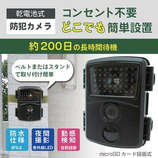 乾電池式お手軽防犯カメラ