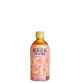 【24本】紅茶花伝 クラフティー 贅沢しぼりピーチティー 440mlPET