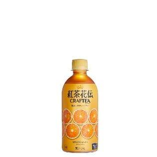 【24本】紅茶花伝クラフティー 贅沢しぼりオレンジティー 440mlPET