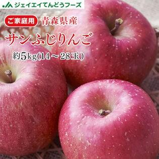 【5kg(14-28玉入り)】青森産サンふじりんご※ご家庭用・傷シミあり