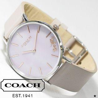【グレージュxラベンダー】COACH コーチ 腕時計 レディース PERRY