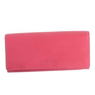 ロンシャン 長財布 3044 021 018 LE FOULONNE 色:ROSE-ピンク