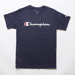 Sサイズ [Champion] M CLASSIC GRAPHIC TEE ネイビー