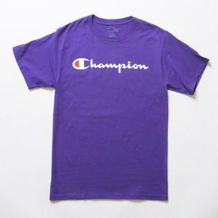 Sサイズ [Champion] M CLASSIC GRAPHIC TEE パープル