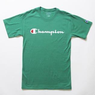 Sサイズ [Champion] M CLASSIC GRAPHIC TEE グリーン