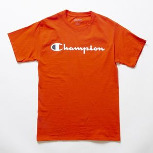 Sサイズ [Champion] M CLASSIC GRAPHIC TEE オレンジ