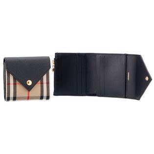 【BURBERRY】コンパクト財布/LS LILA EV【ブラック】
