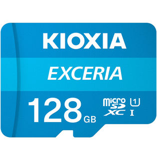 microSDXC 128GB Kioxia UHS-I U1 100MB/S FULL HD録画