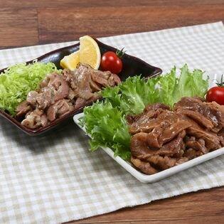 【計600g(計6袋)】炭火焼き 牛カルビ焼肉&豚生姜焼きセット