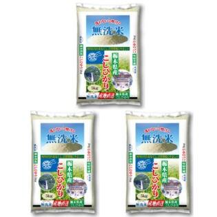 【計15kg(5kg×3袋)】令和2年産 無洗米 栃木県産コシヒカリ
