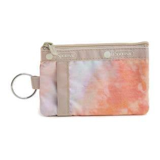 [LeSportsac]パスケース ID CARD CASE ピンクオレンジ系