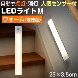 【カラー:ウォーム(電球色)】センサーライト LEDライト 感知式 Mサイズ 250mm