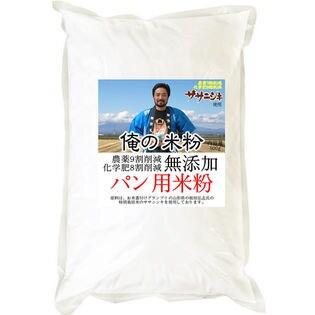 【500g】 俺の米粉 農薬9割削減 化学肥8割減 無添加 パン用 米粉 500g