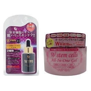 【各1個】ヒト幹細胞配合美容液+W幹細胞配合オールインワンゲル