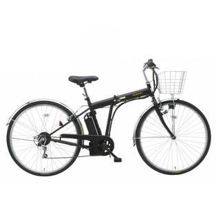 折りたたみ電動アシスト自転車 外装6段式/27インチ/アシスト3モード ブラック