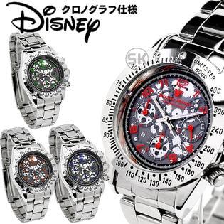 【クロノグラフ機能搭載】ディズニー ミッキー 腕時計 50M防水 ジャパンムーブメント グリーン
