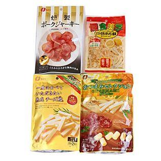 プレミアムおつまみシリーズBタイプ(おつまみセレクション、チーズ鱈、ポークジャーキー)+サービス品