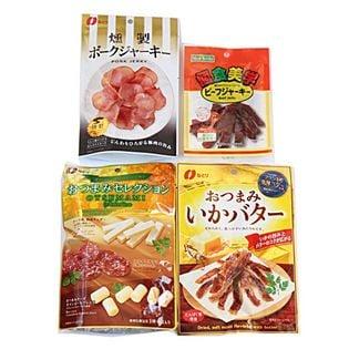 プレミアムおつまみシリーズD(おつまみセレクション、いかバター、ポークジャーキー)+ビーフジャーキー