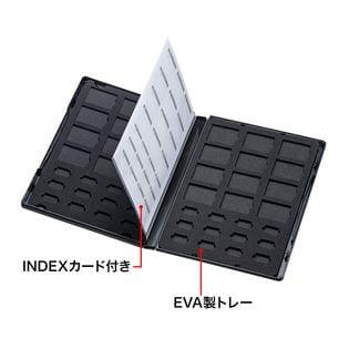 DVDトールケース型メモリーカード管理ケース(SDカード、microSDカード用) サンワサプライ