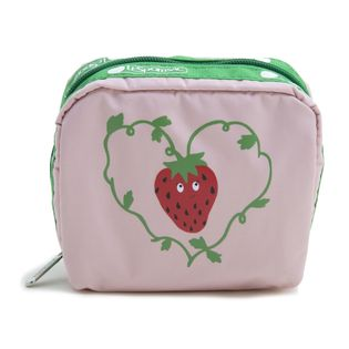 [LeSportsac] ポーチ SQUARE COSMETIC ピンク