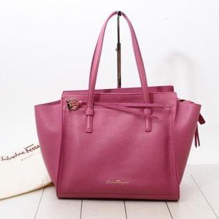 フェラガモ トートバッグ 21F216 AMY 色:PINK-ピンク