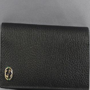 グッチ 長財布 GGロゴ 色:NERO/GREEN-ブラック・グリーン