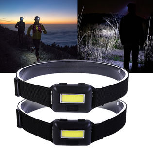 超強光LED小型ヘッドライト2個セット