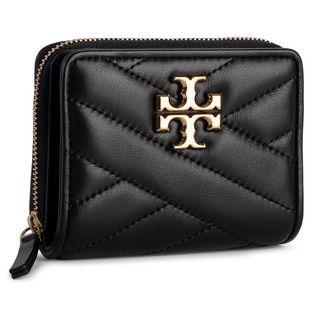 トリーバーチ 二つ折り財布 56820 001 KIRA CHEVRON 色:BLACK