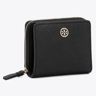 トリーバーチ 二つ折り財布 56621 001 ROBINSON 色:BLACK