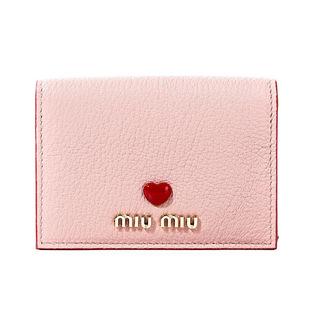 ミュウミュウ カードケース 5MC945 2BC3 F0615 ORCHIDEA-ピンク