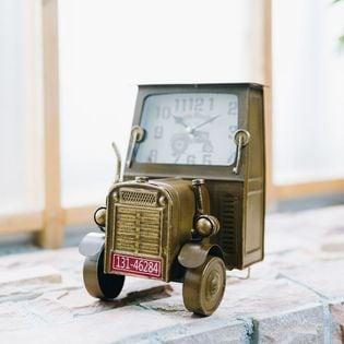 【ブラウン】ヴィンテージモチーフクロック tractor