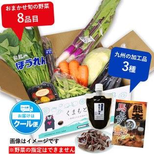 【全11種】くまもと福袋!旬の野菜8種・有明海のり佃煮・馬ホルモン煮込み・九州産生きくらげ