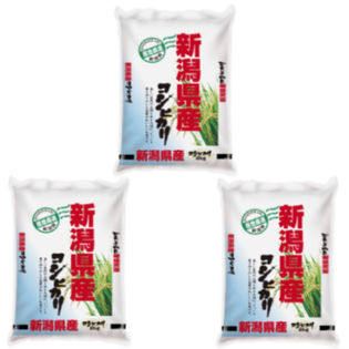 【計6kg(2kg×3袋)】令和2年産 新潟県産コシヒカリ