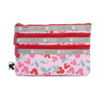 [LeSportsac×MICKEY&FRIENDS]ポーチ 3-ZIP COSMETIC ピンク