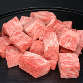 【400g】松阪牛サイコロステーキ(ブレンド)〔牛脂、ステーキ用調味料付〕