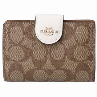 【COACH (OUTLET)】二つ折り財布/【IM/KHAKI/CHALK】