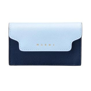 マルニ カードケース PFMOT05U09 LV520 Z328C 色:ILLUSION BLUE