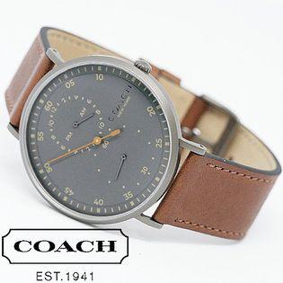 COACH コーチ腕時計 メンズ CHARLES レザーギミック