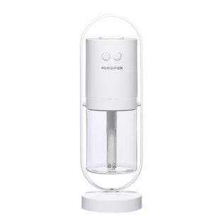【ホワイト】加湿器 卓上型 200ml マジックシャドウ ミニ加湿器 超静音 除菌