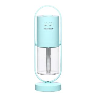 【ライトブルー(表記ブルー)】加湿器 卓上型 200ml マジックシャドウ ミニ加湿器 超静音 除菌
