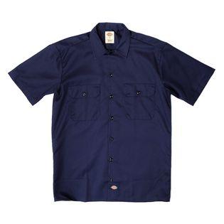 Mサイズ[Dickies]ワークシャツ S/S WORK SHIRT ネイビー