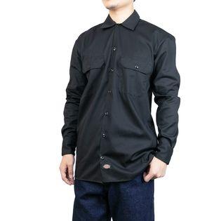 Mサイズ[Dickies]ワークシャツ L/S WORK SHIRT ブラック