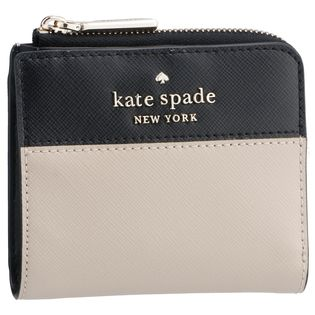 【KATE SPADE OUTLET】コンパクト財布/【WARM BEIGE MULTI】